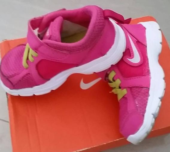 Zapatos Nike Revolution Orig Niña Fucsia Verde Manzana