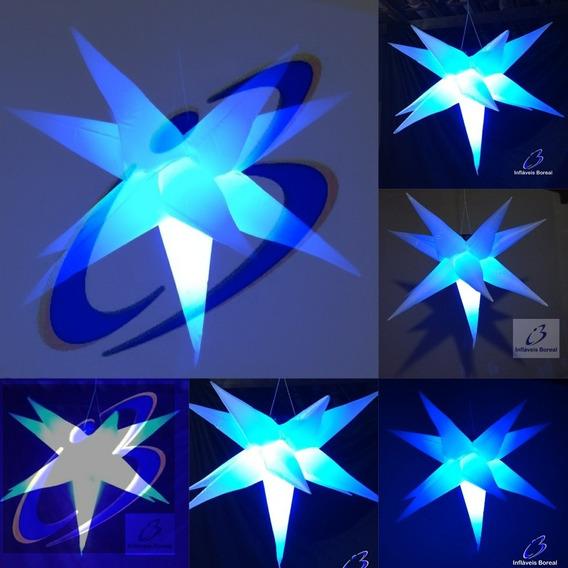 6 Estrelas Infláveis Sputinik,11 Pontas, 80cm Completo