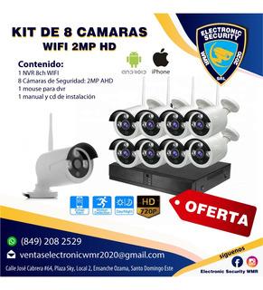 Kit Wifi 8 Cámara Hd 1080p