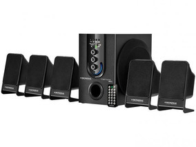 Home Theater Ht12 Subwoofer,5.1 Canais,usb,75w Rms- Mondial!