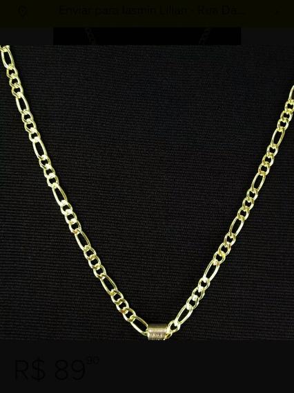 Correntinha 60 Cm Folheada A Ouro