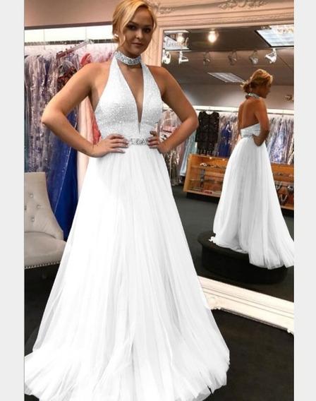 Vestido De Novia- Fiesta Hermosa Importada ! Blanco Sp05