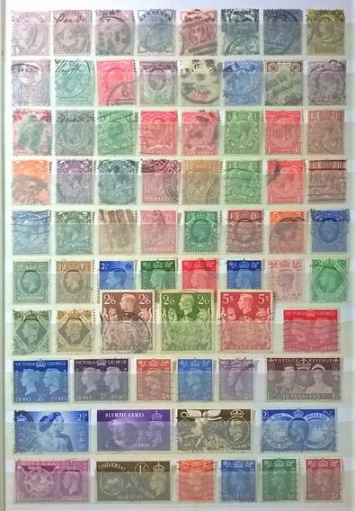 Inglaterra, Colección 197 Sellos Diferentes Usados L13504