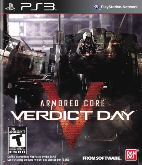 Armored Core Verdict Day Ps3 Original Lacrado Mídia Física