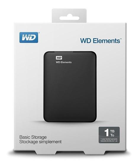 Disco Rigido Externo Western Digital Elements 1tb Usb3.0
