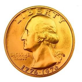 Moeda De Ouro De 1776-1976 24k