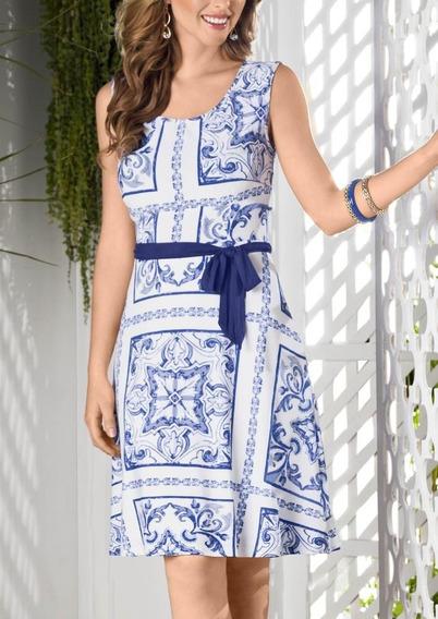 Vestido Azul Blanco 1351859