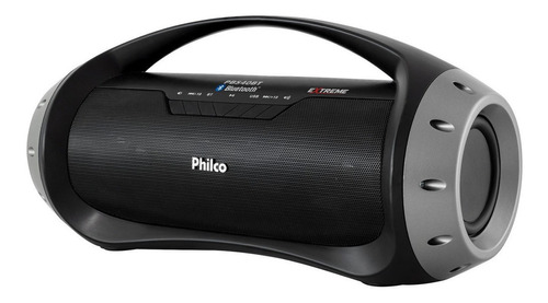 Alto-falante Philco Extreme PBS40BT portátil com bluetooth preto 100V/240V