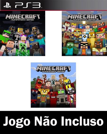Pacote De Skins 1 2 E 3 Do Minecraft - Ps3 Psn*