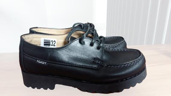 Zapato Colegial Toot Cordón Cuero Colegio Canadian Talle 32