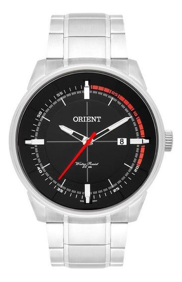 Relógio Orient Prata Ponteiro Vermelho Mbss1295 Oportunidade