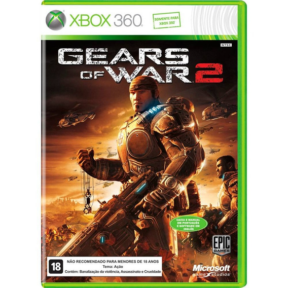 Game Xbox 360 Gears Of War 2 - Original - Reembalado
