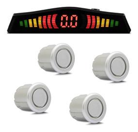 Sensor De Estacionamento 4 Pontos Prata Com Display De Led