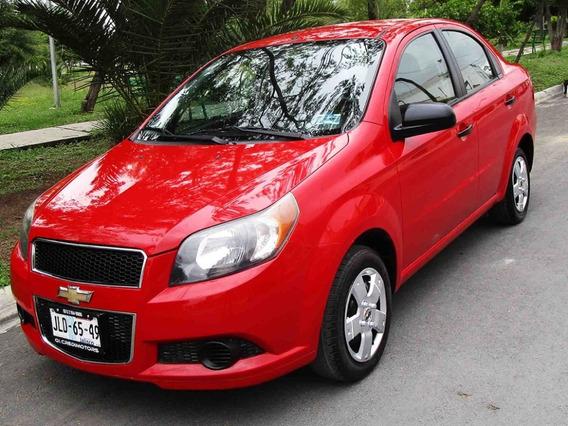 Chevrolet Aveo Ls 2014 Color Rojo