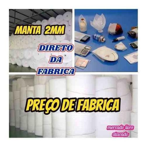 Imagem 1 de 10 de Manta Acrilica Branca 2mm Polietileno Expandido Kit C/14mts²