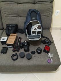 Canon T3 + Flash + Case + Mochila