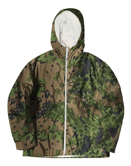 Jaqueta Corta Vento Forrada Com Bolsos Estampada Camuflado 2