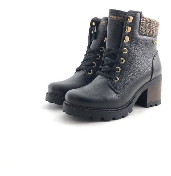 Borcego Cuero Pegada 281338 El Mercado De Zapatos!