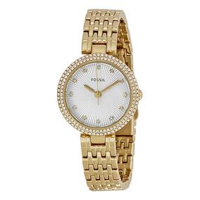 Relógio Fossil Olive Gold Es3346 Steel Bracelet Ladies Watch
