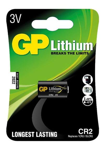 10 Baterias Pilhas Cr2 3v Lithium Foto Gp Cartela Unitária