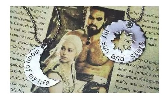 Kit Colar Duplo Game Of Thrones Casal Daenerys & Khal Drogo