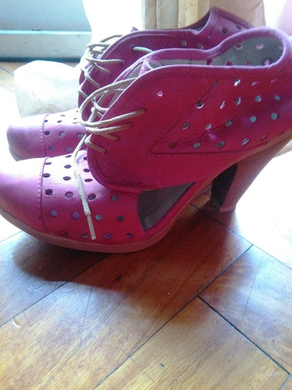 Zapatos Rosa Tipo Pin-up