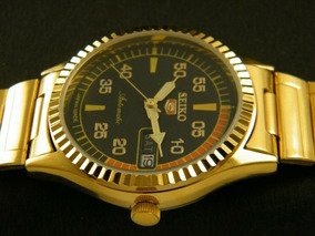 Relógio Seiko 17 Jóias Raro Plaque De Ouro