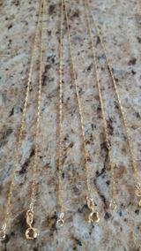 Corrente Fina Folheada A Ouro Unissex 60 Cm × 2 Mm