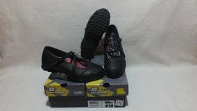 Zapato Escolar Negro De Niña Nº 38 Al 40 Skechers