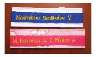 Etiquetas Nombres Cintas Bordadas 12 Unidades Colegio Jardín