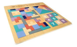 Juguete Didáctico Educativo Madera Tangram Tetris Sudoku