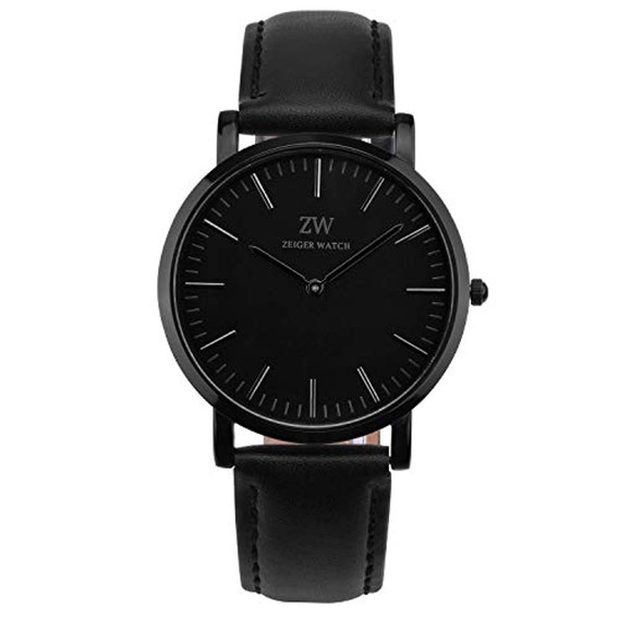 Zeiger Hombres Mujeres Relojes Negro Dial