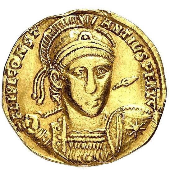 C M - Moeda Romana Solidus De Constantius Ii 337-361 Dc