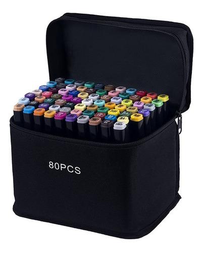 Marcadores 80 Colores Punta Dual Artisticos