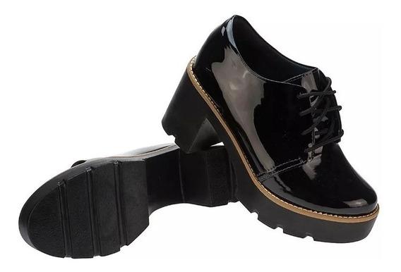 Sapato Feminino Oxford Tratorado