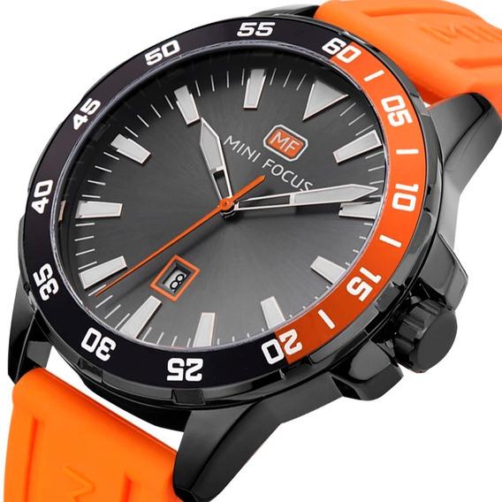 Relógio Masculino Original Minifocus Pulseira Silicone Top
