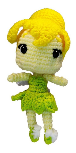 Peluche De Campanita Disney Tejido En Crochet Amigurumi