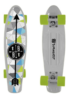 Skate Mini Cruiser Bob Burnquist Branco - Es091