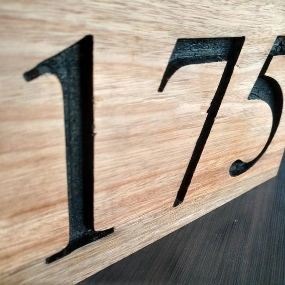 Numeración Domicilio Madera, Número Casa
