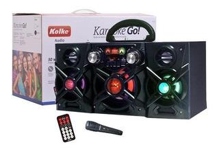 Parlante Karaoke Portatil Bluetooth Led Kolke + Microfono Ultimo Modelo