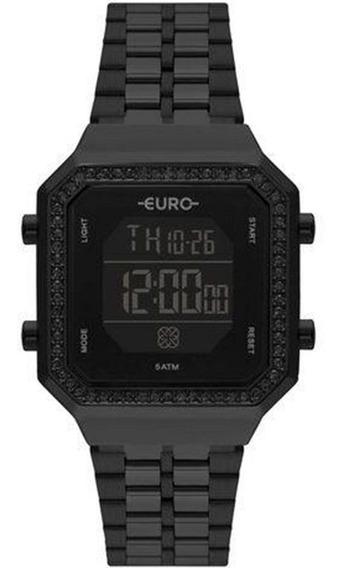 Relógio Euro Feminino Fashion Fit Preto Eubjk032ac/4p