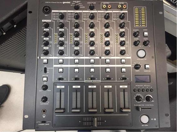 Mixer Para Dj Gemini 5 Canais Cs-02 Novo - Frete Grátis