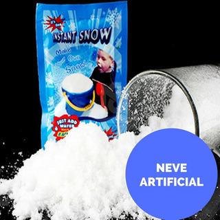 Neve Artificial Mágica Frozen Festa Decoração Natal Slime 5u