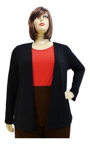 Blusa Cardigan Kimono Casaquinho Plus Size +cores G Ao G3