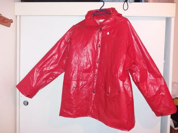 Impermeable Pvc Rojo, Marca Duck Bay. Talla L. Un Solo Uso.