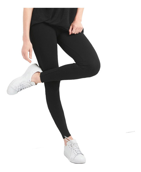 Leggings Deportivo Mujer Cintura Elástica Dama Negro Gap