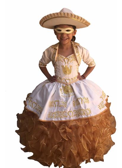 Hermoso Vestido De Charra Para Niña !!!