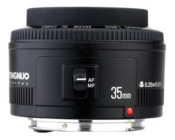 Lente Yongnuo Grande Angular 35mm F2.0 Para Canon Ef