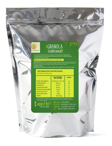 Imagem 1 de 4 de Granola Artesanal Tradicional - 1kg - Made In Natural