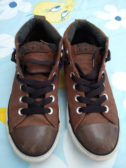 Zapatos Converse En Cuero Originales, Talla 5